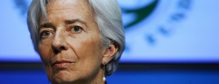 Christine Lagarde in conferenza a Dublino